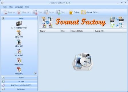 FormatFactory Screenshot