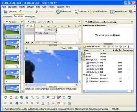 Adobe Captivate Screenshot
