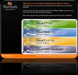 Microsoft Visual Studio Express Screenshot