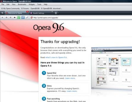Opera Portable Screenshot