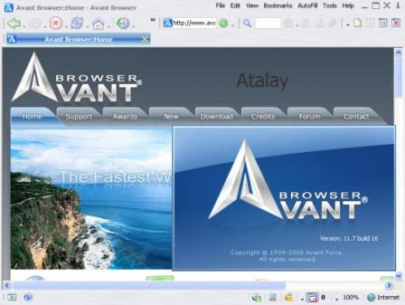 Portable Avant Browser Ultimate Screenshot