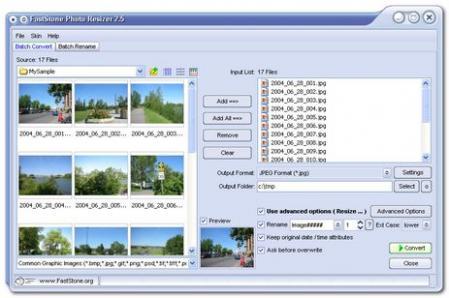 Portable FastStone Photo Resizer Screenshot