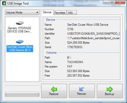 USB Image Tool Screenshot
