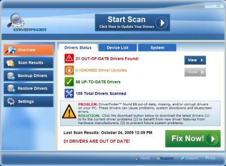 DriverFinder Screenshot
