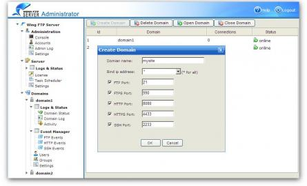 Wing FTP Server For Mac(i386) Screenshot