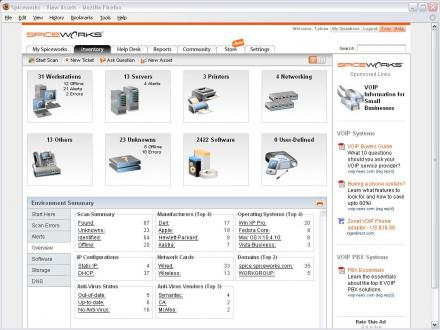 Spiceworks Desktop Screenshot