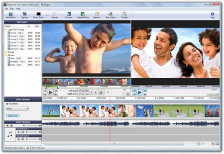 VideoPad Free Video Editor Screenshot