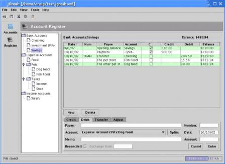 jGnash Screenshot
