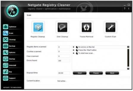 NETGATE Registry Cleaner Screenshot