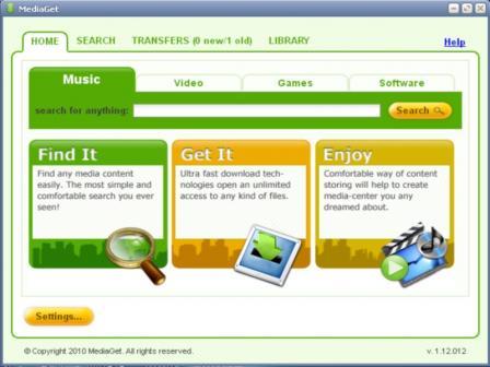 MediaGet Screenshot