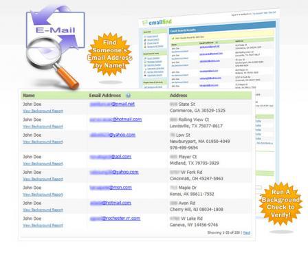 Email Address Finder Screenshot