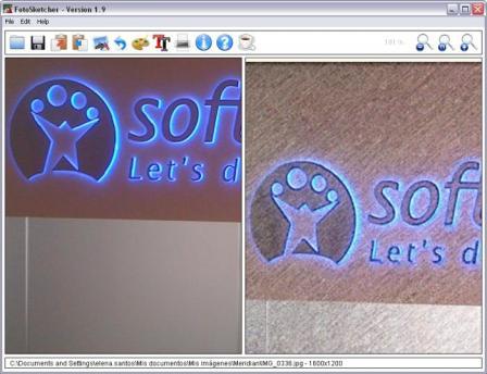 Portable FotoSketcher Screenshot