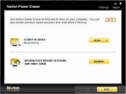 Norton Power Eraser Screenshot