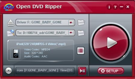 Open DVD Ripper Screenshot