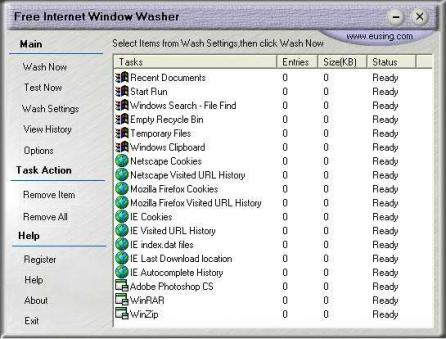 Free Internet Window Washer Screenshot