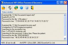 Advanced Office Password Recovery Screenshot