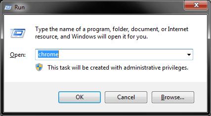Launch a program through the run box