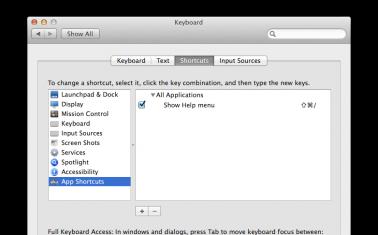 OS X Keyboard Shortcuts