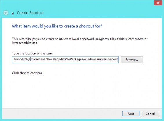 Your Account Shortcut Command