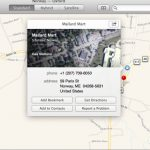 Apple Maps Bookmarks OS X
