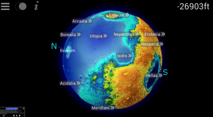 Elevation Mars 3