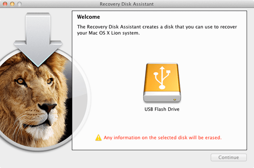 Recovery Disk Assistant Main