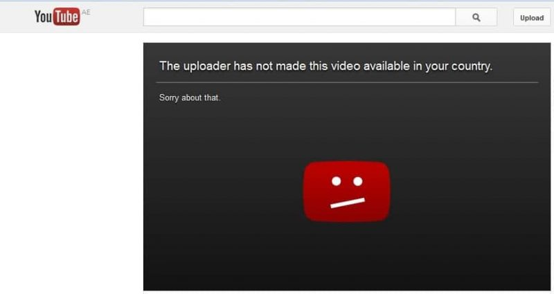 YouTube Not Available In Your Country