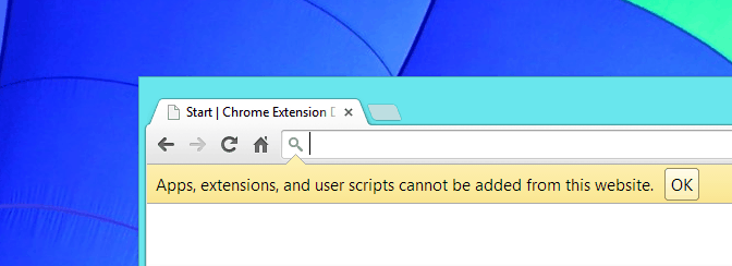 Chrome Cannot Add Extension