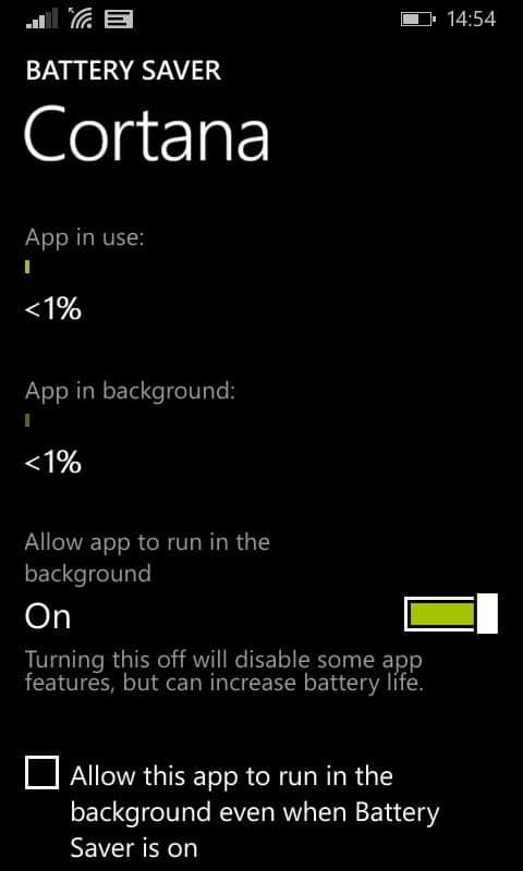 Battery Saver - App settings