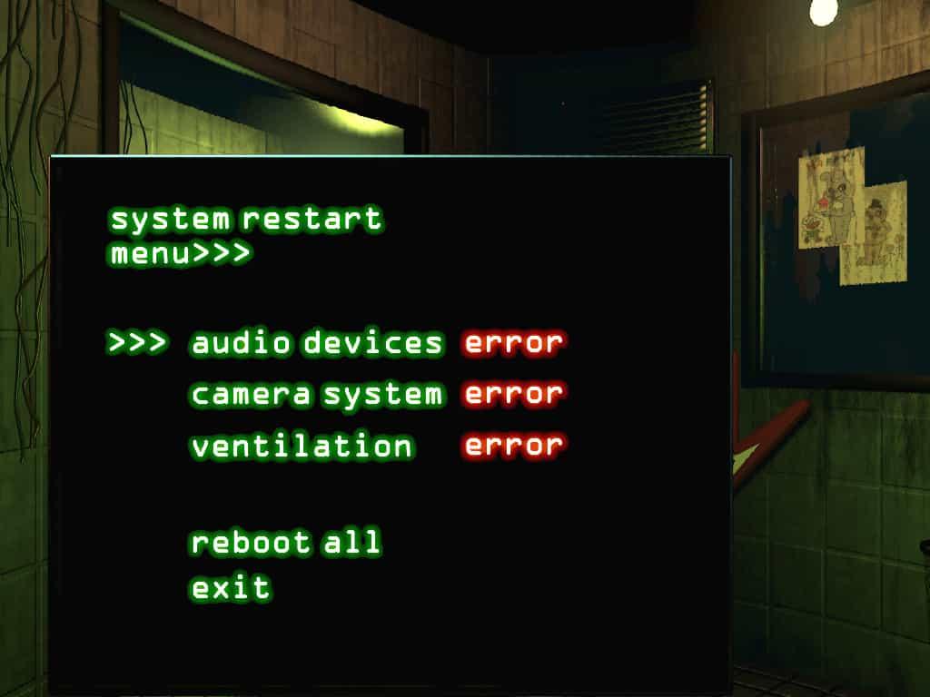 FNaF 3 Reboot systems