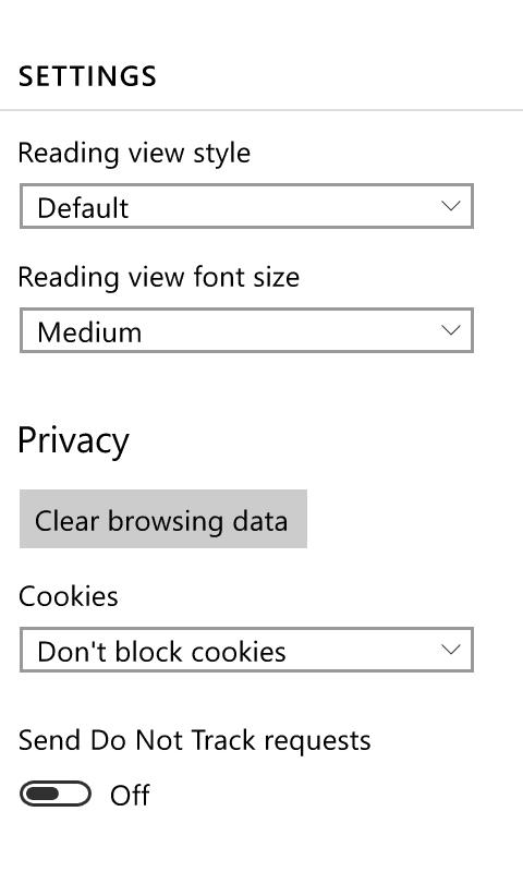Spartan Windows 10 Phone - Settings 1
