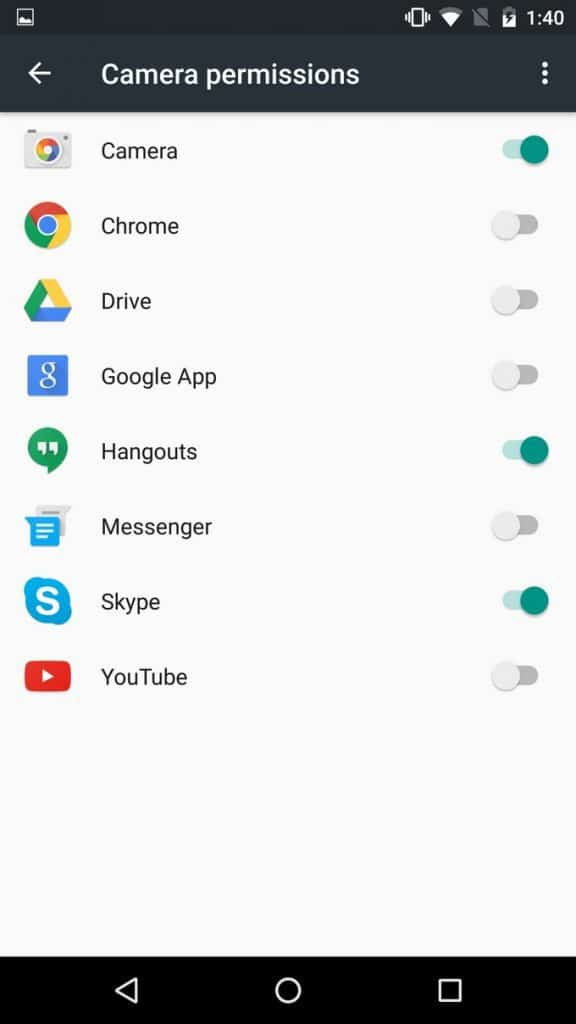 Android Marshmallow - Camera permissions