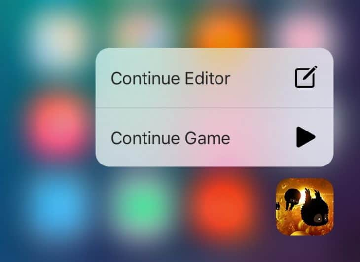 Badland 3D Touch Quick Actions