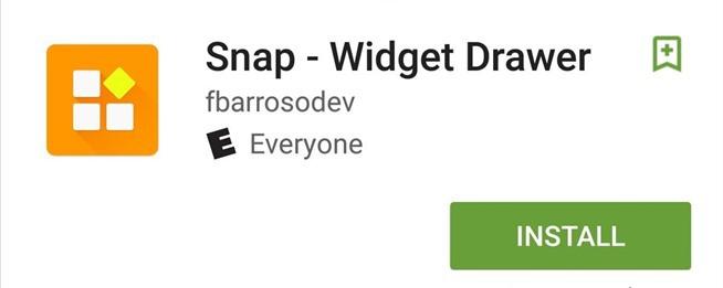 Snap Widget Drawer (Google Play)