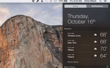 OS X Notifications Center