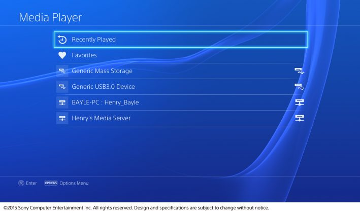 PS4 Media Player Devices