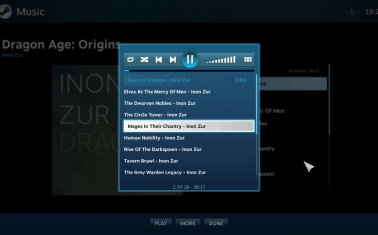 Steam Big Picture Music Player