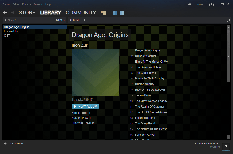 Steam Music Library