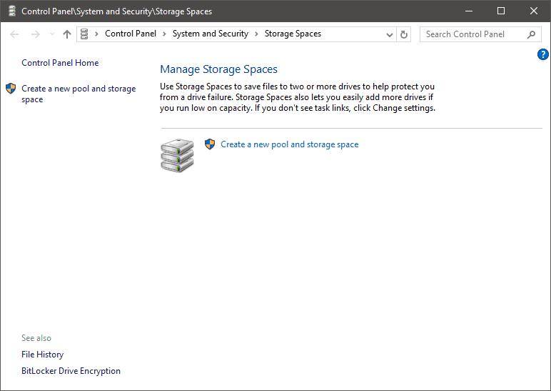 Storage Spaces Default