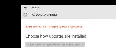 Updates Organization Settings
