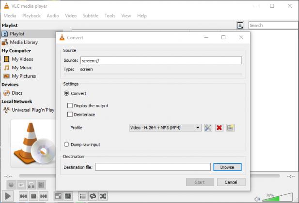 VLC Convert Window