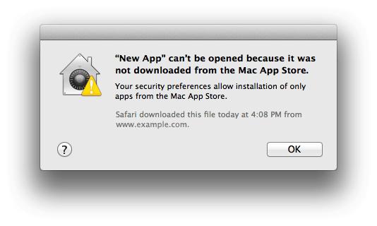 Gatekeeper Mac App Store