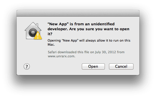 Gatekeeper Unidentified Developer
