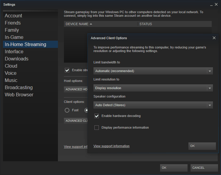 In-Home Streaming Options