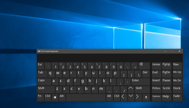 On-Screen Keyboard Windows 10