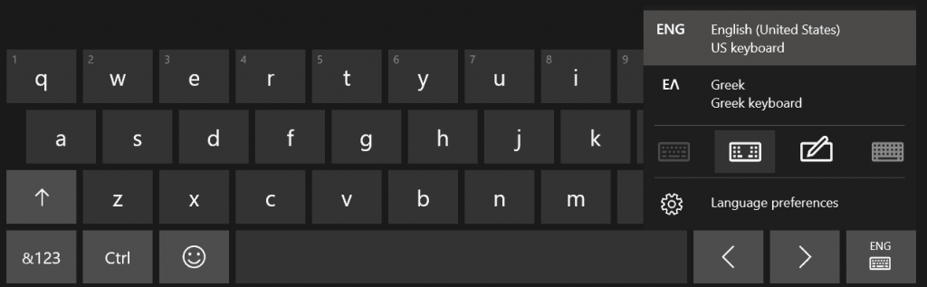 Touch Keyboard Layouts