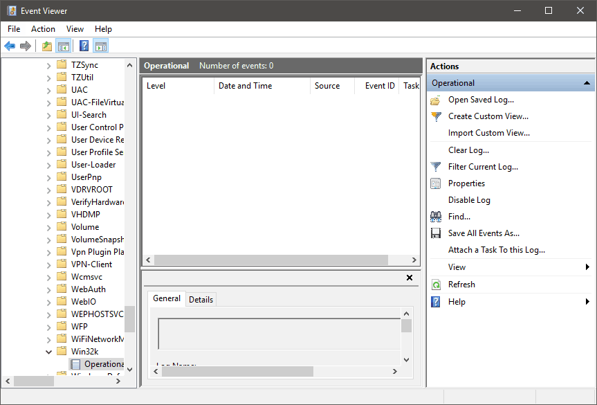 Untrusted Fonts Event Viewer