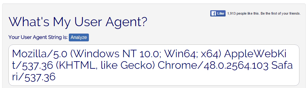 What's My User Agent