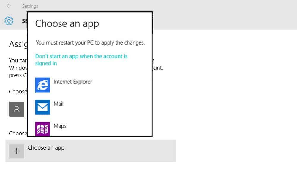 Windows 10 - Set up Assigned Access 2