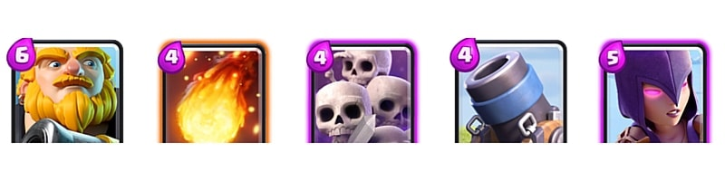 Clash Royale types of cards